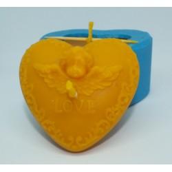 Forma na sviečku srdce